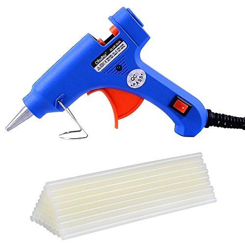 Askliy Blusmart Heißklebepistole mit 26 Stück Klebesticks Klebepistole für DIY kleine Handwerkprojekte und schnelle Reparaturen zuhause im Heimwerker &Handwerk (blau, 20 Watt)