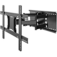 "TV Wall Mount Bracket Full Motion- Fits 16"", 24"" Wood Studs Articulating Swivel TV Mount for 37-80 Inch LED, LCD, OLED, Flat Screen, Plasma TVs - Weight up to 132lbs - VESA 600x400mm PERLESMITH"