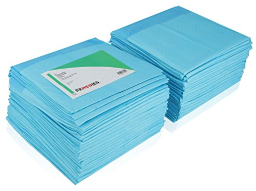 REMEDIES Disposable Underpad 150 Count Soft Fluff Fill (3 Packs of 50), 23'' X 36'', 45g by REMEDIES