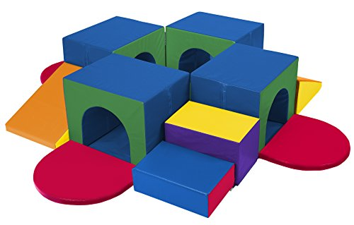 Ecr4kids Kids Softzone Climber Crawling Tunnel Maze