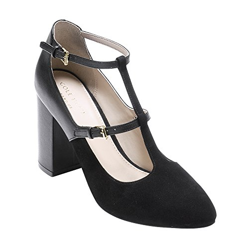 609e305706 ... Strap Vintage Heels · Cole Haan Womens Rheba Pump 85mm 9.5 Black  Leather-black Suede