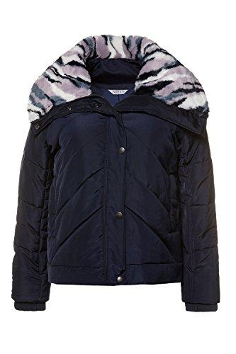 Studio Untold Faux Plus 713249 Dark Fur Size Animal Jacket Blue Women's Quilted Print rrgqwaA