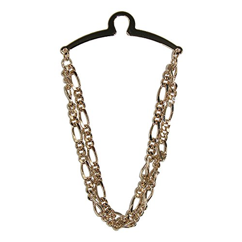Competition Inc. Men's Double Link Tie Chain, Gold by Competition Inc.