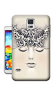 Pinellia Shop Girl Wearing a Butterfly Coronet TPU Hard Phone Case for Samsung Galaxy S5
