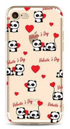 2 opinioni per Cover Panda Per iPhone 6/6S Plus 5.5,Hippolo TPU Gel Silicone Protettivo Skin