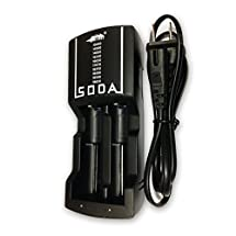 Efest SODA dual Charger for 3.7V rechargeable 10440/14500/14650/16340/16650/17650/17670/18350/18490/18500/18650 Li-ion battery