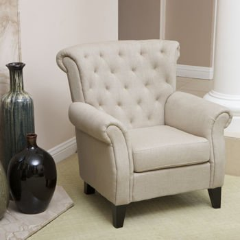 Noble House, Springfield Fabric Club Chair It Has A Hardwood Frame And  Tapered Espresso