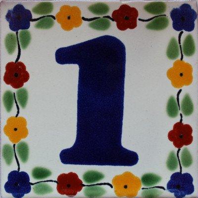 2 pcs Bouquet Talavera Tile Number One