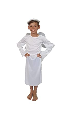 c752fbba09 Angel Gabriel Boys Girls Child Xmas Nativity Fancy Costume   Large 10 - 12  yrs