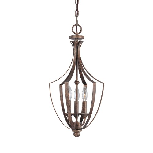 Capital Lighting 9131RT Soho Collection 3-Light Foyer Fixture, Rustic Finish (Soho Ceiling Chandelier)