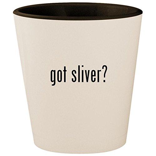 got sliver? - White Outer & Black Inner Ceramic 1.5oz Shot Glass