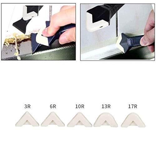Hunputa 10 Pcs Silicone Sealant Spreader Spatula Scraper Cement Caulk Removal Tool by Hunputa-UH (Image #1)