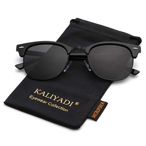 Polarized Sunglasses for Men and Women | Semi-Rimless Frame | Driving Sun glasses | 100% UV ()