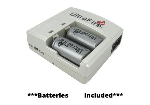 DULEX®ultrafire Wf-138a Lithium-ion Rcr123a Battery Charger and 2pcs Rcr123a Battery