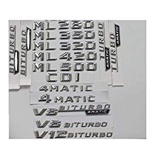 Emblemas cromados para emblema de tronco ML55 ML63 AMG ML300 ML320 ML350 ML400 ML500 4MATIC CDI W166 W164