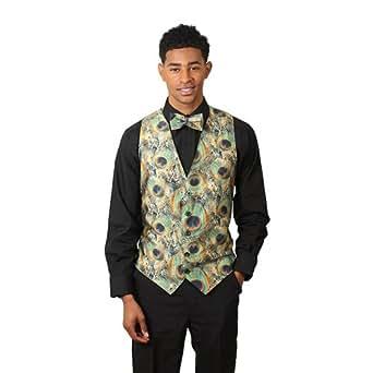 SixStarUniforms Men's Peacock Print Formal Designer