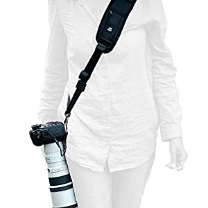 Camera Straps For Cameras Canon,Nikon,Extra Long Neck Strap W/Quick Release and Safety Tether,Perfect for All DSLR included eBook,Lens Cloth,SD Card Case and 3 Year Warranty By HiiGuy
