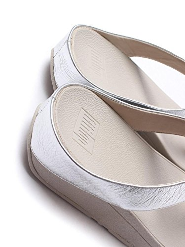 Sandals Leather Silver FitFlop Rola Womens q7BPnU1