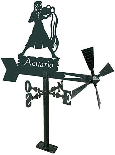 Arthifor - Veleta de Viento para Jardín con Silueta Acuario: Amazon.es: Jardín