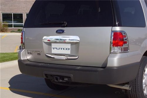 Putco 401405 Chrome Trim Tailgate And Rear Handle Cover Upper Section Only