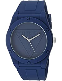 Quartz Rubber and Silicone Casual Watch, Color:Navy (Model: U0979L4)