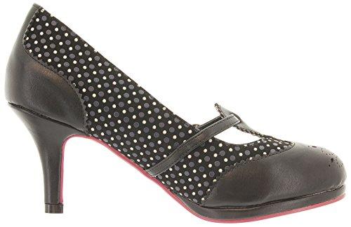 Zapatos Sintético Material Banned Mujer Para Negro Vestir De Aqxgp