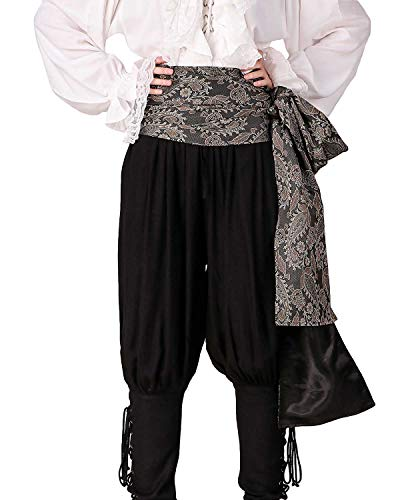 ThePirateDressing Pirate Medieval Renaissance Halloween Cosplay Costume Brocade Large Sash (Brocade# 115, Lined)]()