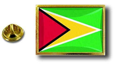 Guyana de con clip de del de metal el mariposa Akacha de la de alfileres Bandera de alfiler Perno insignia los Uq0pwH6S7