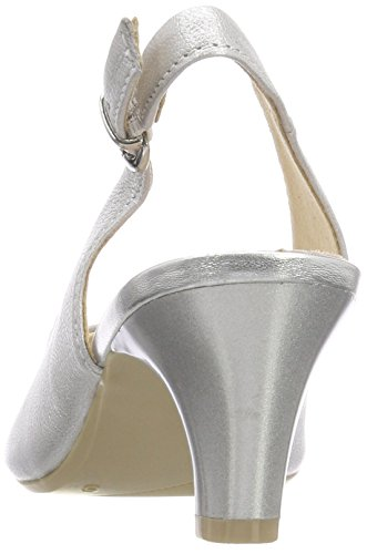 Silver Metal Back 29699 Sling Silver Caprice Sandals Women's 920 qZFnOY