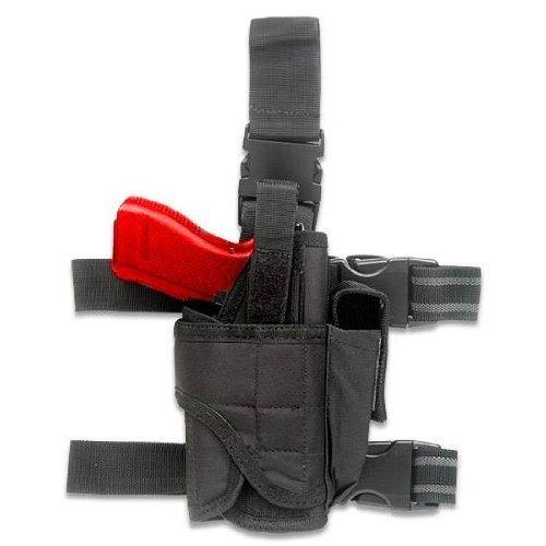 Ultimate Arms Gear Tactical Black Adjustable Tornado Drop Leg Hi Point Pistol/Gun w/ Light Or Laser Holster + Magazine Pouch