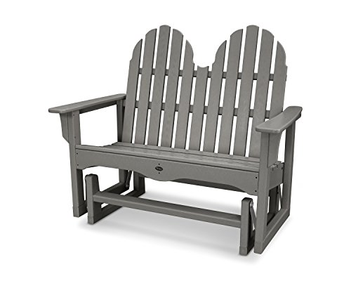 "Trex Outdoor Furniture Cape Cod Adirondack 48"" Glider in Stepping Stone"