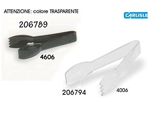 FLO400607 - Carlisle food service products Carly Clear Plastic Tongs - 6 in. - 1 EA