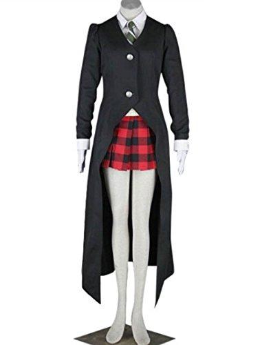 ZYHCOS Womens Halloween Party Dress Black Long Coat Cosplay Costume (Womens-S)