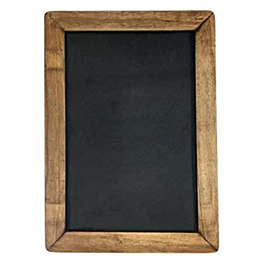 Vintage Framed Slate Kitchen Chalkboard ( 7  x 10 ) - Decorative Chalk Board for Rustic Wedding Signs, Kitchen Pantry & Wall Decor