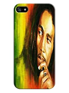 Faustino Olea Lovestal cute cartoon 3d pattern tpu case cover for iphone 5/5s(Bob Marley)