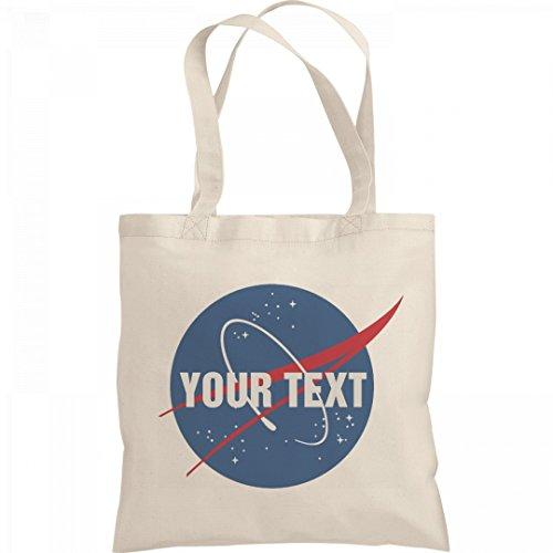 Custom Text Nasa Logo Science Gift: Liberty Bargain Tote Bag