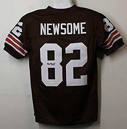 best loved 5e5df 27528 Ozzie Newsome Autographed/Signed Cleveland Browns XL Jersey ...