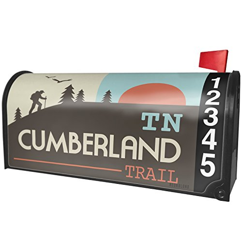 NEONBLOND US Hiking Trails Cumberland Trail - Tennessee Magnetic Mailbox Cover Custom Numbers - Cumberland Trail