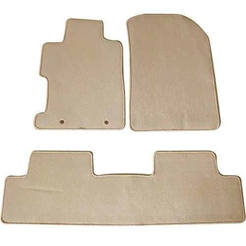 (Floor Mats Fits 2006-2011 Honda Civic | Floor Mats Carpet Front & Rear Beige 3PC - Nylon by IKON MOTORSPORTS | 2007 2008 2009 2010)