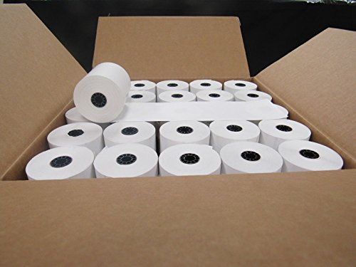 Box of 50 Thermal Cash Register POS paper rolls 3 1/8