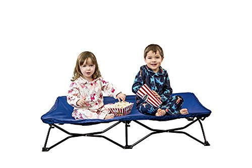 Regalo My Cot Portable Toddler Bed, Includes Fitted Sheet and Travel Case, Royal Blue (Sleeping Toddler Cots)