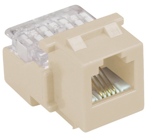 Allen Tel AT26-09 Category 3 Compact Jack Module, Ivory, 1 Port, EIA/TIA 568A/B Wiring, 110 Termination, 6 Conductor