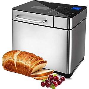 Macchina per il pane programmabile, 19 programmi da 710 W, con display retroilluminato blu e timer programmabile 15 ore… 8