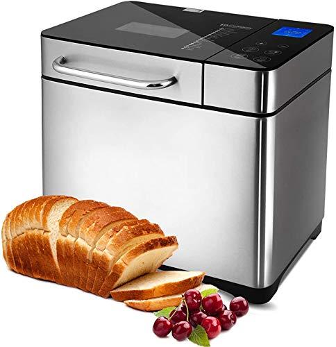 Macchina per il pane programmabile, 19 programmi da 710 W, con display retroilluminato blu e timer programmabile 15 ore… 1