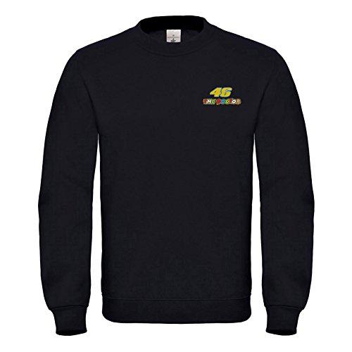 Broderies Rossi Motorrad À Doctor 46 Prime Qualité The La Noir Sweat 7056 Valentino Super Natshop2000 Capuche Pilot shirt WPY0qwII