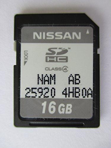 4HB0A 2014 2015 INFINITY Q50 SD NAVIGATION CARD , OEM PART # NISSAN NAN AB 25920-4HB0A SDHC 16 GB