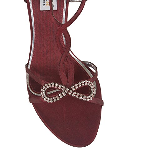mujer marrón Zapatos tacón de Rojo FARFALLA tx0Yqzw4
