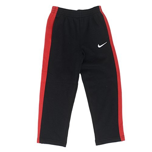 Price comparison product image NIke Boys Core Fleece Athletic Swoosh Sweatpant 862107 (4, Black/Gym Red)