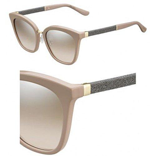 Jimmy Choo Fabry/S Sunglasses Nude/Brown Mirror ()