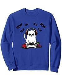 Gamer Cat Sweatshirt Cute Cat Gaming Sweatshirt